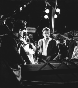 "James Dean in carnival shooting rangescene from ""East of Eden.""1955 Warner / MPTvPhoto by Floyd McCarty - Image 0024_0252"