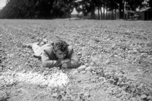 "James Dean watching his crop growin ""East of Eden.""1955 Warner / MPTVPhoto by Floyd McCarty - Image 0024_0258"