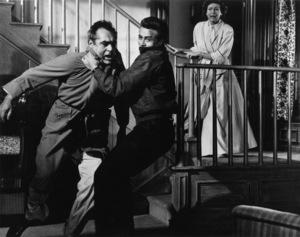 """Rebel Without a Cause""Jim Backus, James Dean, Ann Doran1955 Warner Bros.Photo by Floyd McCarty - Image 0024_0266"