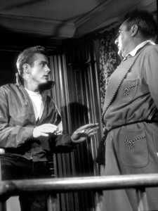 """James Dean and Jim Backus in """"Rebel Without A Cause.""""1955 Warner / MPTVPhoto by Floyd McCarty - Image 0024_0267"""
