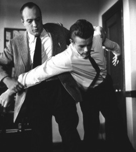 """James Dean and Edward Platt in """"Rebel Without A Cause.""""1955 Wqrner / MPTVPhoto by Floyd McCarty - Image 0024_0268"""