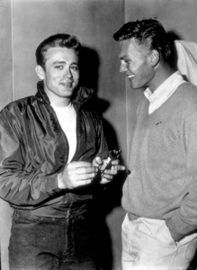 """James Dean visited by Tab Hunter,off the set of """"Rebel Without A Cause.""""1955 Warner / MPTV - Image 0024_0310"""