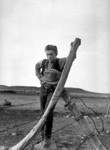 """James Dean on location for """"Giant""""in Marfa, Texas, 1955.Photo by Floyd McCarty - Image 0024_0407"""