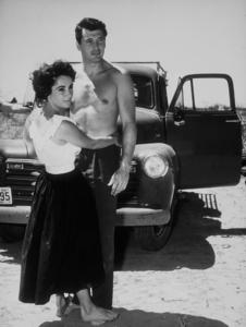 "Elizabeth Taylor and Rock Hudson in ""Giant""1955 Warner Bros. © 1978 Floyd McCartyMPTV - Image 0024_0410"