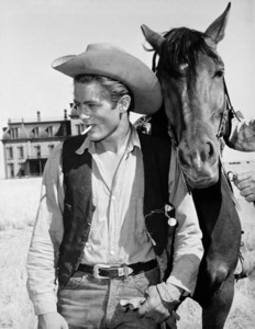 """James Dean on location for """"Giant"""" in Marfa, Texas1955Photo by Floyd McCarty - Image 0024_0412"""