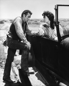 """James Dean and Elizabeth Taylor in """"Giant."""" 1955 Warner  Photo by Floyd McCarty - Image 0024_0417"""