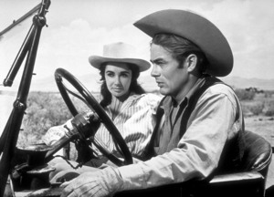 """James Dean and Elizabeth Taylor in """"Giant""""1955 Warner / MPTVPhoto by Floyd McCarty - Image 0024_0418"""