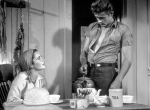 "James Dean serving Elizabeth Taylor tea in ""Giant"" 1955 Warner Photo by Floyd McCarty - Image 0024_0421"