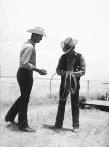 """James Dean on location whilefilming """"Giant"""" in Marfa, Texas.1955 Warner / MPTVPhoto by Floyd McCarty - Image 0024_0438"""