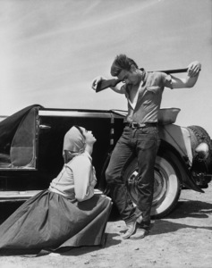 """James Dean and Elizabeth Taylor during the making of """"Giant""""1955 Warner BrothersPhoto by Floyd McCarty - Image 0024_0445"""