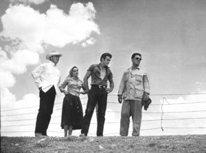 """Elizabeth Taylor, James Dean and Director George Stevens on location for """"Giant""""1955 Warner Bros.MPTV - Image 0024_0458"""