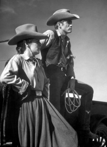 """James Dean and Mercedes McCambridgein """"Giant.""""1955 Warner / MPTVPhoto by Floyd McCarty - Image 0024_0464"""
