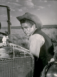 """James Dean on location for """"Giant.""""in Marfa, Texas.1955 Warner / MPTVPhoto by Floyd McCarty - Image 0024_0466"""