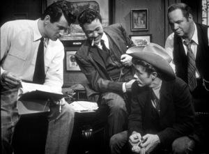 """Rock Hudson and James Dean in """"Giant.""""1955 Warner / MPTV - Image 0024_0473"""