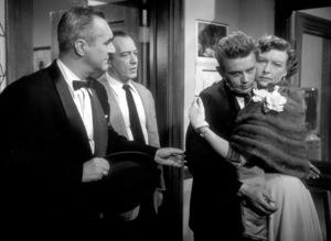 "James Dean, Jim Backus, Edward Platt, and Ann Doran in ""Rebel Without A Cause.""1955 Warner / MPTV - Image 0024_0476"