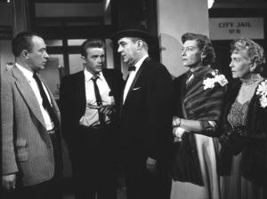 "James Dean, Jim Backus, Edward Platt, and Ann Doran in ""Rebel Without A Cause.""1955 Warner / MPTV - Image 0024_0480"