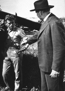 """James Dean and Raymond Masseyin """"East of Eden.""""1955 Warner / MPTVPhoto by Floyd McCarty - Image 0024_0495"""