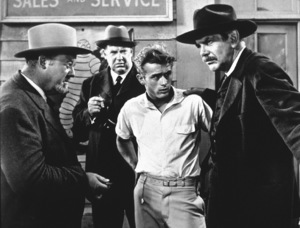 """James Dean, Burl Ives, and Raymond Masseyin """"East of Eden.""""1955 Warner / MPTVPhoto by Floyd McCarty - Image 0024_0496"""