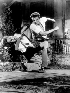 """James Dean and Richard Davaloson """"East of Eden.""""1955 Warner / MPTVPhoto by Floyd McCarty - Image 0024_0497"""