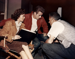 """James DeanWith Natalie Wood and Director Nicholas Ray on the set of """"Rebel Without a Cause"""" © 1955 Warner / MPTV - Image 0024_2067"""