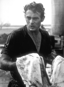 """James Dean on the set of """"Giant.""""1955 Warner / MPTV - Image 0024_2109"""
