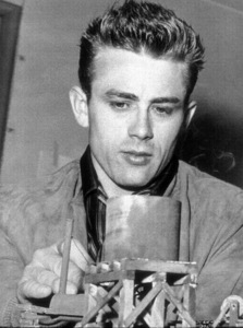 "James Dean on the set of ""Giant.""1955 Warner / MPTV - Image 0024_2120"