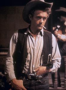 "James Dean on the set of ""Giant"" Marfa, Texas. 1955. © 1978 Sid Avery - Image 0024_2130"
