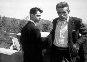 """Sal Mineo and James Dean in""""Rebel Without A Cause.""""1955 Warner / MPTV - Image 0024_2134"""