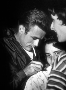 "James Dean with fans atGriffith Park location duringfilming ""Rebel Without A Cause.""May 1955. - Image 0024_2151"