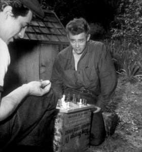 James Dean playing chess, c. 1955. - Image 0024_2153