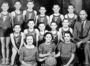 James Dean at age 9 on Fairmount Grade School