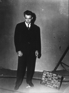 """James Dean wardrobe test on the set of """"East of Eden."""" 1955 Warner / MPTV - Image 0024_2163"""