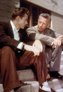 """James Dean with DirectorNick Ray on the set of """"Rebel Without A Cause."""" 1955 Warner / MPTV - Image 0024_2167"""