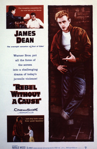 """""""Rebel Without A Cause"""" Poster © 1955 Warner - Image 0024_2177"""