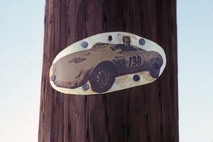 James DeanTelephone Pole at the Crash Site at the Intersection of Highway