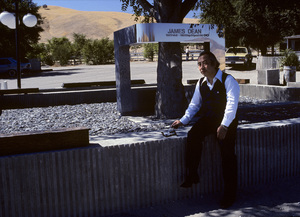 Mr. Seita Onishi at the Memorial Site at the intersection of Highway
