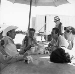 """Giant""James Dean, Mercedes McCambridge, Robert Hinkle, Rock Hudson, Elizabeth Taylor1955© 1978 Sid Avery - Image 0024_2437"