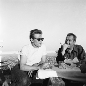 "James Dean and Jim Backus during the making of ""Rebel Without a Cause""1955© 1978 Sid Avery - Image 0024_2440"