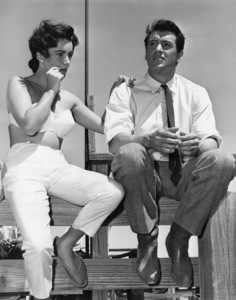 """""""Giant""""Elizabeth Taylor and Rock Hudson in Marfa, Texas1955Photo by Floyd McCarty - Image 0024_2441"""