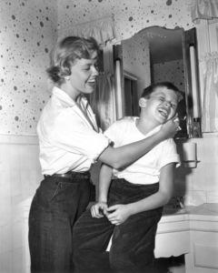 Doris DayWashing behind son Terry