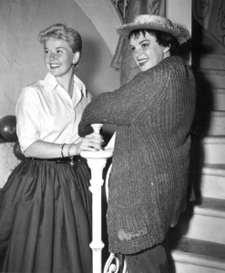 "Doris Day and Judy Garland on the set of ""A Star Is Born"" 1954Photo by Floyd McCarty - Image 0025_1214"