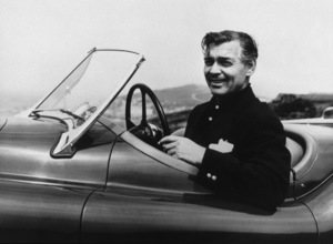 Clark Gable in his 1954 Jaguar XK 120 - Image 0025_2161