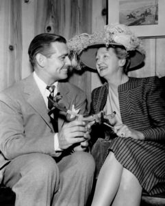 """Clark Gable and Hedda Hopperduring the filming of """"Huckster, The.""""1947 MGM - Image 0025_2236"""