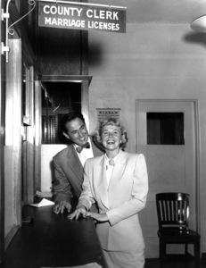 Doris Day, Marty MelcherOn their wedding day 1951**I.V. - Image 0025_2290