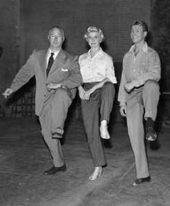 """Doris Day, Gene Nelson,Director David Butler on the set of""""Lullaby of Broadway"""" 1951Photo by Jack Albin - Image 0025_2336"""