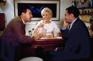 Doris Dayat home in Beverly Hills with husband Marty Melcher and Jack Lemmon1961 © 1978 Bob Willoughby - Image 0025_2381