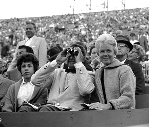 Doris Day and Martin Melcher at a baseball gamecirca 1959 © 1978 Bernie Abramson - Image 0025_2405
