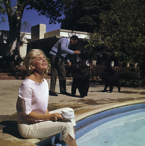 Doris Day at her Beverly Hills home with husband, Martin Melcher1961© 1978 Bob Willoughby - Image 0025_2501
