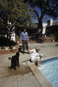 Doris Day at her Beverly Hills home with husband, Martin Melcher1961© 1978 Bob Willoughby - Image 0025_2515