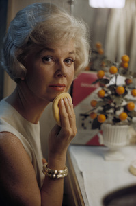 """Doris Day in her dressing room on the set of """"Lover Come Back""""1961© 1978 Bob Willoughby - Image 0025_2538"""